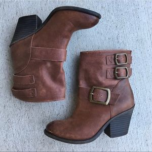 🍀 Lucky Brand // Tommie leather booties 6.5
